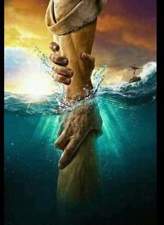 The directional love of God keeps us from sinking. Keep our heart's set on the Voice of His Son Jesus Christ. God Bless YOU! Image Jesus, Pictures Of Jesus Christ, Black Jesus Pictures, Jesus Christus, Prophetic Art, Biblical Art, Jesus Is Lord, Jesus Help, Bible Art