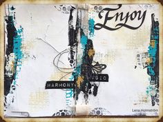 Simple art journal page