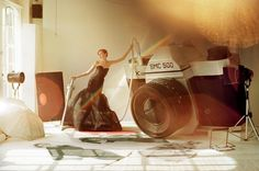 Tim Walker | Lily Cole & Giant Camera | Italian Vogue 2005