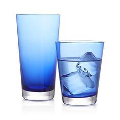 Cobalt Glasses    Crate and Barrel   #CRATEWEDDINGx100LC