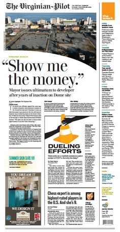 The Virginian-Pilot's front page for Monday, July 29, 2013.