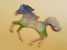 Tropical night horse articulated paper doll by mooncoocoo. Use coupon code PINTEREST15 to get a 15% discount!