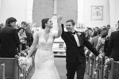 arm swing back up the aisle!   Watson Studios #wedding