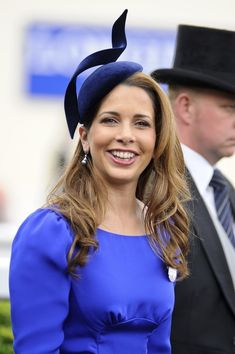 Pin for Later: The 33 Best Fascinators That Royalty Has Ever Worn Princess Haya of Jordan attended the 2012 Royal Ascot wearing this unique indigo fascinator. Millinery Hats, Fascinator Hats, Royal News, Royal Hairstyles, Pretty Hairstyles, Princess Haya, Spring Racing Carnival, Royal Ascot Hats, Crazy Hats