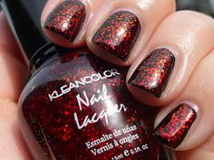 -Kleancolor Nail Polish #231 Chunky Holo Scarlett - Full Size 0.50 fl oz   -Brand New- Not Tested   -Fun Color! Best used as a topcoat- Mix + Match -Tons of sparkle + flecks! Free Shipping!