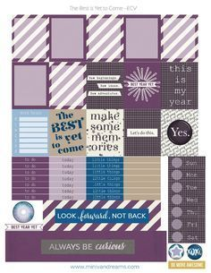 Where in the world did this year go? I cannot believe it is almost New Year! Check out these Best is Yet to Come free printable planner stickers for your planner! They are perfect to celebrate new year and get you motivated for the upcoming challenges! Make this year, your [...]