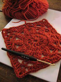 Flower square - Translate page - VMSomⒶ KOPPA: virkattu kukkaneliö - ohje Crochet Flower Squares, Granny Square Crochet Pattern, Crochet Blocks, Knit Or Crochet, Crochet Granny, Crochet Motif, Irish Crochet, Crochet Flowers, Crochet Stitches