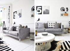 I love this gray IKEA sofa. It will be my next sofa, for sure.