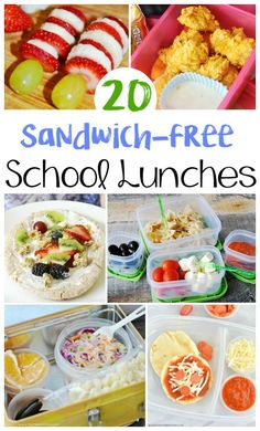20 Non Sandwich School Lunch Ideas for kids - Make back to school lunches exciting this school year with these 20 yummy and easy non-sandwich school lunch ideas that your kids will love! Perfect back to school lunch ideas. Back To School Lunch Ideas, Healthy School Lunches, School Lunch Box, Cold Lunch Ideas For Kids, School Snacks, College Lunch, Back To School Kids, School School, Lunch Boxes