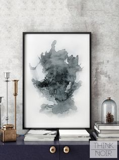 Download and print this watercolor Wall poster by yourself. Think Noir