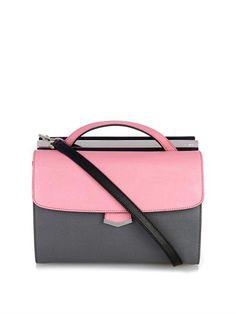 Demi-Jour color-block leather shoulder bag by Fendi