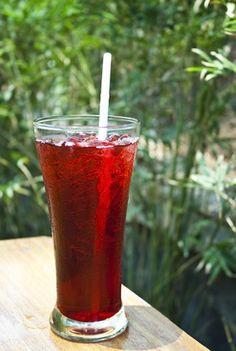 Blackberry Ice Tea - Something I'll use the wild blackberries for next summer!