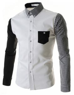 - Mens slim edgy plaid sleeve dress shirt for the stylishmen - Lovely design offers a trendy stylish look - Perfect for special occasions or parties - Made from high quality material - Available in 2 colors New Mens Fashion Trends, Trendy Mens Fashion, Mens Trends, Long Sleeve Shirt Dress, Long Sleeve Shirts, Traje Casual, Estilo Cool, Stylish Shirts, Stylish Outfits