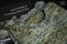 Ecoprint sweater - inspired by Anna's garden Fiber Art, Weaving, Sweater, Inspired, Inspiration, Sweater Cardigan, Jumper, Biblical Inspiration, String Art