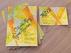 Lemon Invitation & RSVP Qty: 100 sets