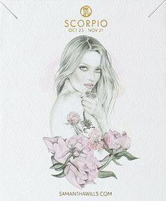 scorpio ▵ kelly smith (illustration) samantha wills (jewelry design)