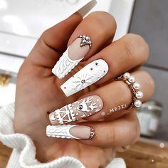Дизайн ногтей тут! ♥Фото ♥Видео ♥Уроки маникюра   VK Xmas Nails, Christmas Nail Art, Holiday Nails, Fun Nails, Bling Acrylic Nails, Best Acrylic Nails, Plaid Nails, Sweater Nails, Penguin Nails