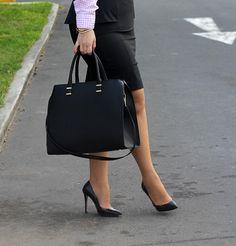 Divina Ejecutiva: Mis Looks - ¿Cómo uso una falda Peplum? #divinaejecutiva #officeattire #workinggirl #workingstyle #workinglook #mng #gap #h&m #zara #peplum #pearls