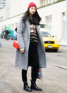 Winter Layering Ideas From the Streets of New York via @WhoWhatWearUK// In this look I like the accessories