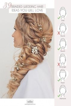 39 Braided Wedding Hair Ideas You Will Love ❤ From soft waves to gorgeous updos and ponytails, brides have so many hairstyles to consider. See our gallery of braided wedding hair ideas for inspiration! Braided Hairstyles For Wedding, Box Braids Hairstyles, Bridal Hairstyles, Graduation Hairstyles, Medium Hair Styles, Natural Hair Styles, Short Hair Styles, Long Box Braids, Box Braids Styling