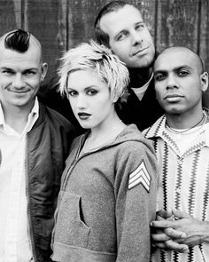 No Doubt. Tragic Kingdom era. The album took 2 and a half years to make, saw the end of Gwen and Tony's 8 year relationship and caused Gwen' brother (founder of No Doubt) to leave the band. The album spent a record breaking 6 weeks at number one and sold 8 million copies in that time, proving worth it all in the long run.