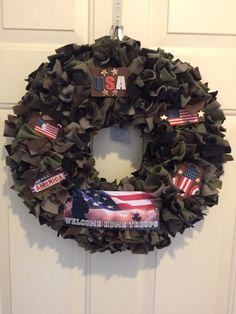 Camouflage Wreath Army Wreath Support the by MOSTaDOORableWREATHS