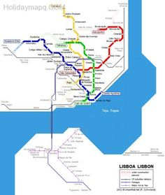 Metro Lisboa Route Map LISBON Pinterest Portugal - Portugal underground map