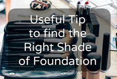A little tip to find the right shade of foundation on: experienciaseconstatacoes.blogspot.com