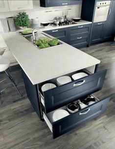 If you are looking for Small Kitchen Remodel Ideas, You come to the right place. Below are the Small Kitchen Remodel Ideas. This post about Small Kitchen R. Home Decor Kitchen, Diy Kitchen, Kitchen And Bath, Kitchen Interior, Kitchen Small, Smart Kitchen, Kitchen White, Hidden Kitchen, Apartment Kitchen