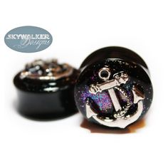 Acrylic Glitter & Anchor Plugs ($18) ❤ liked on Polyvore