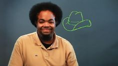 Video: How to Draw a Cowboy Hat for a Kid's Project.  Tie in for Anthony Reynoso