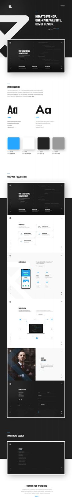 One-page Website Design. on Behance Desing Inspiration, Landing Page Inspiration, One Page Website, Graphic Projects, Website Themes, First Page, Page Design, Design Web, Banner Design
