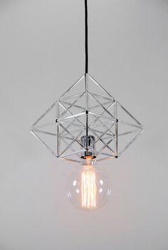 Diamond pyramid Himmeli light pendant geometric by panselinos, $95.00