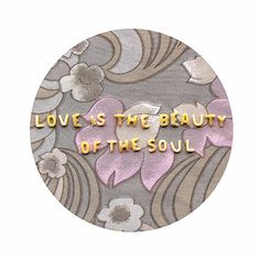 Romantic quote print  Love is the beauty of the soul  by peraboom, $25.00
