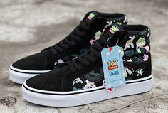 Toy Story x Vans SK8-Hi Buzz Lightyear Black Suede Skate Shoes  Vans Suede b3dd91e3d737