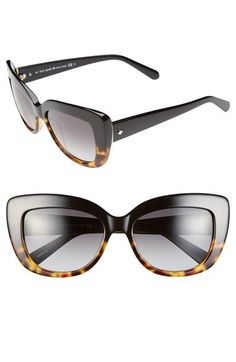 Free shipping and returns on kate spade new york 55mm cat eye sunglasses at Nordstrom.com. Bold cat-eye frames add unmistakable retro allure to lightweight, full-coverage sunglasses.
