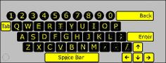 Braille Keyboard basically used at home or office has a full set of key touch positions with brailley calls.  More Details: http://www.electronickeyboards.com/braille-keyboards.html