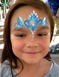 Frozen Theme Face Painting | Paula Taylor's Art Frozen Face Paint, Body Painting, Face Painting Images, Girl Face Painting, Face Painting Designs, Paint Designs, Painting For Kids, Painting Tips, Face Paintings