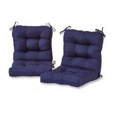 Greendale Home Fashions Navy Patio Chair Cushion at Lowe's. This Greendale Home Fashions Outdoor Seat/Back Combination Chair Cushion Set is the perfect complement to your outdoor furniture. Each cushion measures Outdoor Lounge Chair Cushions, Patio Chairs, Outdoor Chairs, Outdoor Furniture, Indoor Outdoor, Cushions Navy, Outdoor Spaces, Outdoor Living, Cushion Fabric
