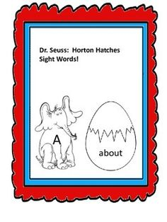 Students will enjoy this Dr. Seuss card game.  It can be created and changed to meet different learning needs.  It was created to be a sight word game. Students are given Horton cards and then are told to take turns choosing eggs.  If the egg sight word matches to a Horton card it is a match.