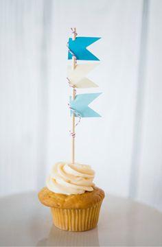 Pennant Flag Cupcake Topper