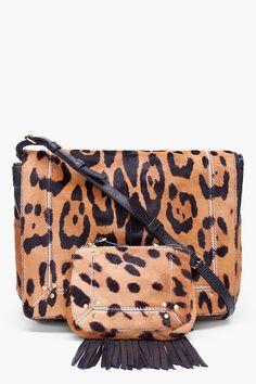 Jerome Dreyfuss Leopard Print Calf_hair Igor Bag