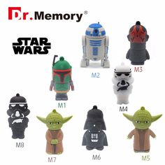 SW usb flash drive Star wars pen drive 32g pendrive 16g R2D2 bb8 Darth Vinda 8g 4g Maul Bounty Hunter Usb2.0 usb starwars