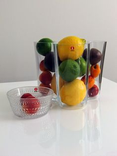 Aalto Vase as a fruit bowl. So stylish!