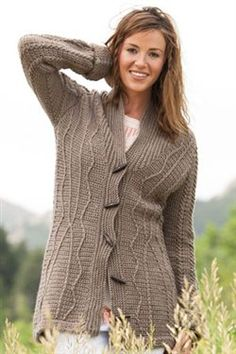 This beautiful crochet sweater has a simple texture. Better Than His Sweater - Media - Crochet Me