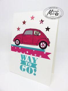 Stampin Utopia Bestel Stampin' Up! Hier. Stampin' Up! A beautiful Ride, Bravo! Beetle card.