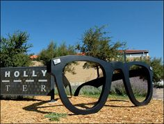Giant Buddy Holly Glasses in Lubbock, Texas - Been there, done that and got the geocache