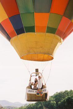 hot air balloon wedding photography and portrait idea, winthrop wa; found on SocietyBride.com
