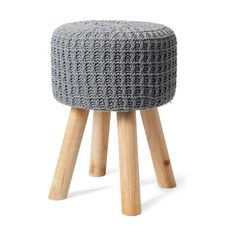 This crochet stool is the perfect add-on to your little one's room. Industrial Stool, White Industrial, Shabby Chic Kitchen, Kitchen Decor, Pink Side Plates, Grey Lounge, Best Anti Aging, Inspired Homes, Crochet Designs