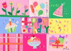 """""""Birthday Girl"""" soft vinyl placemat by Jill McDonald for Oopsy daisy, Fine Art for Kids $12"""